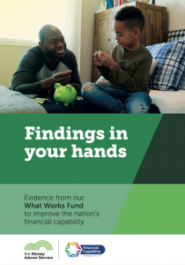 Findings in your hands - what works in financial capability for children, young people, working age adults and people in retirement