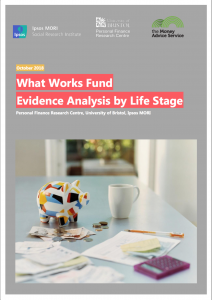 What Works Fund evidence analysis by lifestage